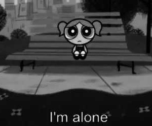 alone, loneliness, and power puff girls image