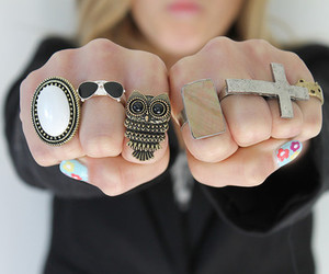 rings, cross, and fashion image