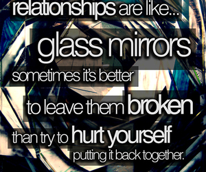 heartbroken, quote, and realtionships image