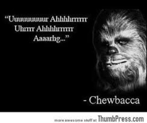 funny, chewbacca, and quote image