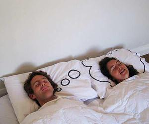 Dream, sleep, and couple image