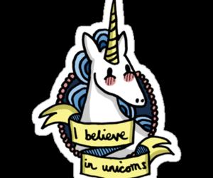stickers and unicorn image