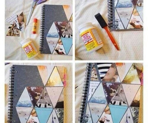 diy, notebook, and school image