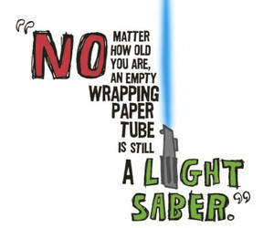 funny, light saber, and quote image