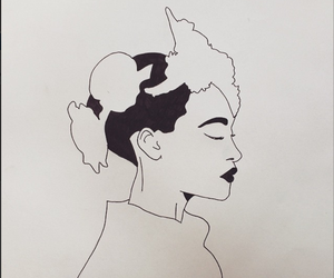 black and white, dior, and drawing image