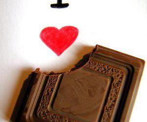 love and heart shocolate image