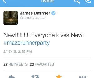 newt, the maze runner, and james dashner image