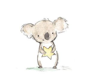 Koala, stars, and cute image