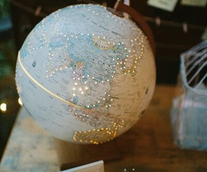 world, travel, and globe image