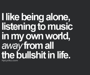 music, alone, and life image