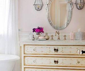 bathroom, decor, and flowers image