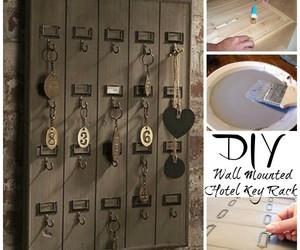 cool, diy, and hotel key rack image