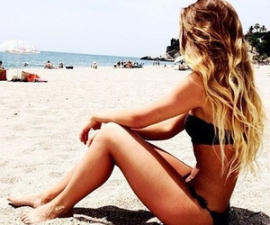 beach, tropical, and bikini image