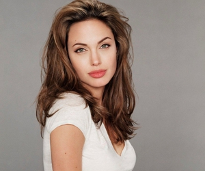 angelina, brunettes, and hair image