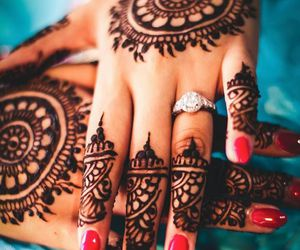henna, red, and ring image