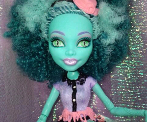 bizarre, bluegreen, and doll image