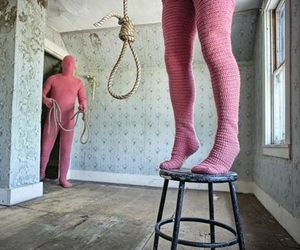 hang, noose, and weird image