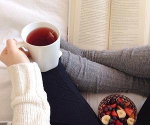 book, tea, and teen image