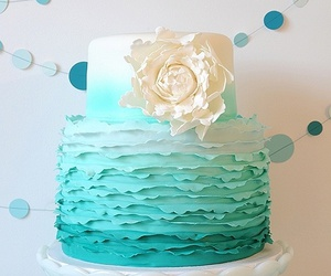 cake, flowers, and white image