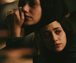 emmy rossum, grunge, and tears image