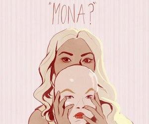 mona, pll, and pretty little liars image