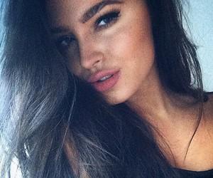 beauty, girl, and brunette image