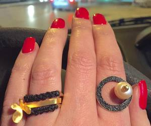 jewelry, nails, and pearl image