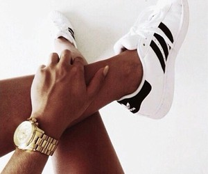 adidas, watch, and black image
