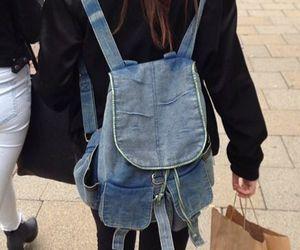 grunge, backpack, and fashion image