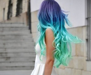 beauty, hair, and dyed hair image