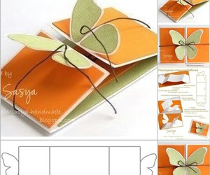 diy, butterfly, and card image