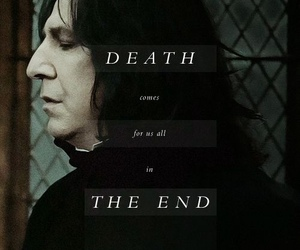 harry potter, alan rickman, and rip image