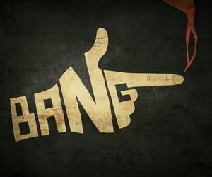 bang, hand, and gun image