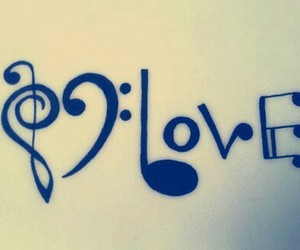 art, music, and love image