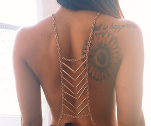 back, girl, and jewelry image