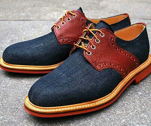blue, men, and shoes image