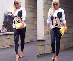 outfit, black, and mickey image