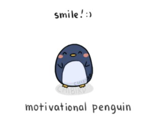 smile, motivation, and penguin image