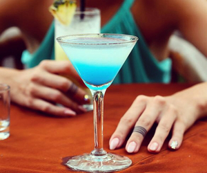 cocktail, blue, and summer image