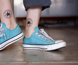 converse, tattoo, and all star image