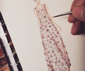 fashion, flora, and illustration image