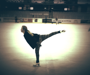 Figure, ice, and skate image
