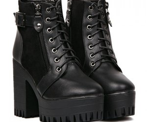 black, goth, and shoes image