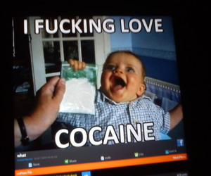 baby, cocaine, and funny image