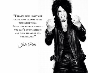 jake pitts, quote, and black veil brides image