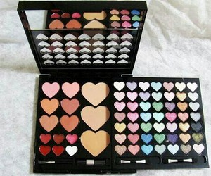 makeup, heart, and make up image