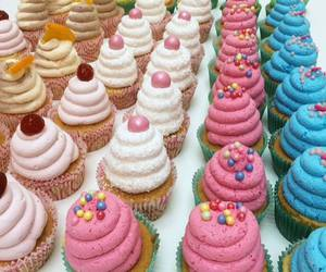 cakes, cupcakes, and food image