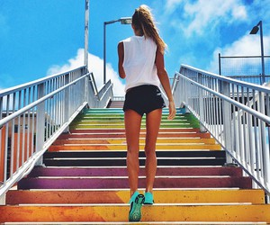 girl, fitness, and motivation image