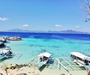 blue, Philippines, and palawan image