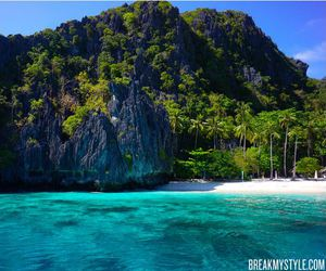 beach, Philippines, and palawan image